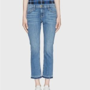 NWOT Current/Elliot Cropped Straight Denim Sz 28